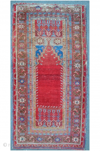 Ladik Prayer Rug, 212 x 109 cm
