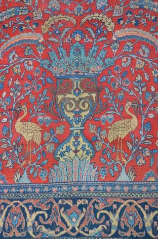 "Antique Tabriz with Vase & double Mihrab composition, ca.1910, signed ""Hadad"" (Sheik Hassan) 375 x 270 cm"