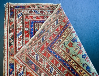 18th C. Ottoman Mudjur Prayer rug. 59 x 43 inches.