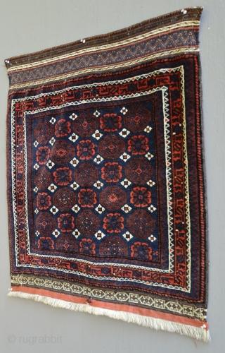 Antique Minakhani Mina Khani. 30 x 33 inches. Mint, full pile.