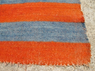 Antique Tibetan rug / heavy textile. It is wool and large and heavy -- 6ft x 8ft. unusual ZIGZAG weave pattern. Excellent Condition