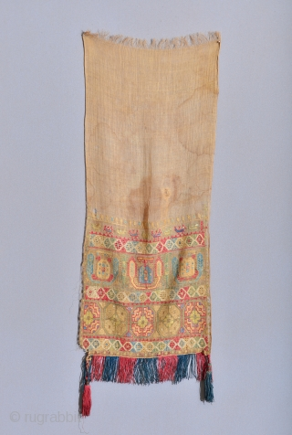 Very early Mytilene / Mitilini Lesbos Greek Islands Ottoman Embroidery. Late 17th / Early 18th
