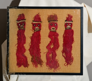 Pre Columbian Wari or Huari Culture set of 4 deity figurines.