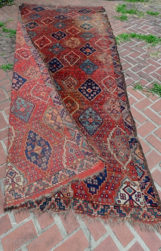 Spectacular Early 1800 Turkmen Ersari Beshir Carpet