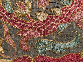 Please help identify -- Mystery superfine dragon embroidery (fragments stitched together). Feels real old. I would appreciate any feedback. Thank you.
