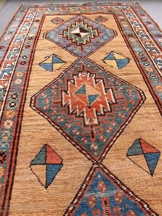 antique caucasian rug runner