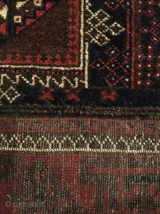 Timuri Baluch Long Rug.  Circa Antique.  Excellent condition.  Full pile.  82x43.  5 colors.  Clean and hand washed.