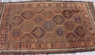 "Antique Balouch rug, 2'10"" x 5'1"" (87 x 155 cm.) good original condition."