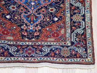 "Antique Persian Farahan Sarouk rug, 2'1"" x 2'9"", very good original condition."