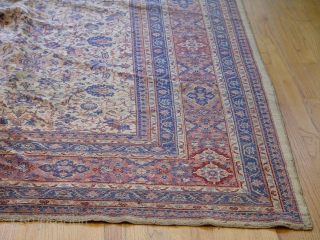Antique Turkish rug , 9' x 12' , very good original condition, circa 1900-1920's