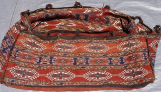 Antique Caucasian Shahsavan Soumak large bedding bag, very good original condition, 