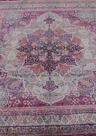 """Antique Persian Kermanshah, circa 1880's, it measures 7'10"""" x 10'3"""" (239 x 313 cm.), this is in wonderful condition, has been hand washed and cleaned professionally."""