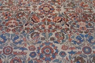 "Antique Persian Malayer Northwest Hamadan, circa 1850-1880's, size: 8'10"" x 11'7"" / 270 x 352 cm , excellent condition."