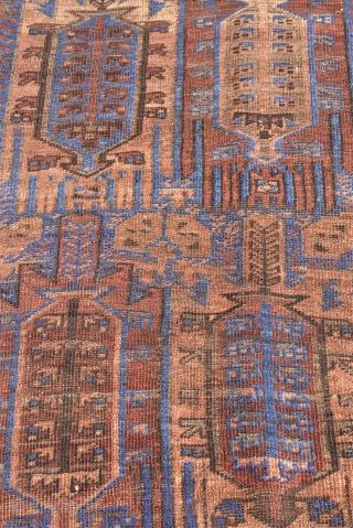 "Antique Balouch rug 2'8"" x 4'10"" (82 x 148 cm)."