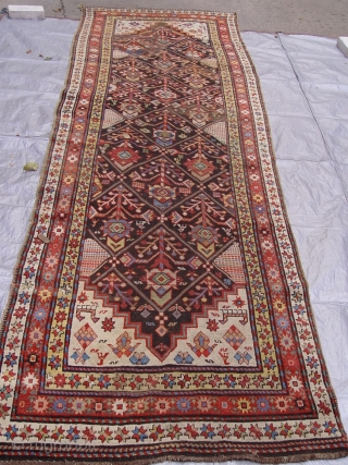 "Antique Caucasian Karabagh runner, 3'4"" x 11'9"" ft./ 102 x 358 (cm) circa 1880 , very good original condition."