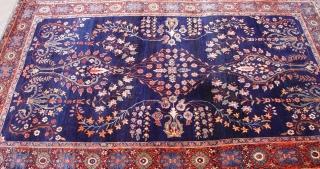 "Antique Mohajiran Sarouk , circa 1900's, size 4'3 x 6'6"" /130 x 198 cm."