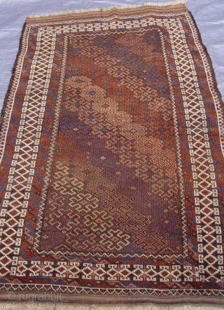 "Antique Balouch rug, 2'10"" x 4'9"" ft. / 66 x 145 cm."
