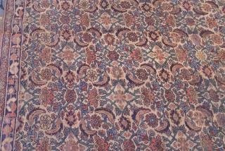 "Antique Persian Bijar, circa 1850-1880's, size 9' x 13'3"""