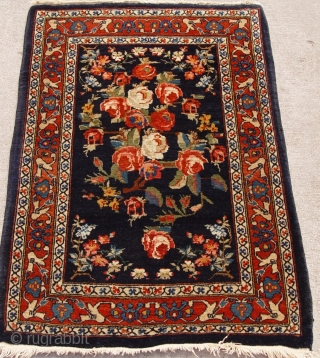 "Antique Persian Mohajiran Sarouk, ca. 1900's, size 2'1"" x 3' (64 x 92 cm), full pile , hand washed and cleaned, excellent original condition, no repairs, no wears."