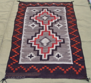 """Antique Native American Navajo Indian Wool rug, 3'4"""" x 5'4""""ft. no stains, no color run, wonderful condition."""