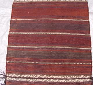 "Antique Persian Baluch Bag, circa 1860-1880's , very good original condition, size 28"" x 59""inches."