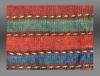 """Baluch """"Khorjin"""" (Saddle Bag), SW Afghanistan (Chakhansur region), 19th C.   A smaller """"khorjin"""" that may very well have serve the purpose of a """"chanteh"""" or personal bag.  All natural dyes, no repair or  ..."""