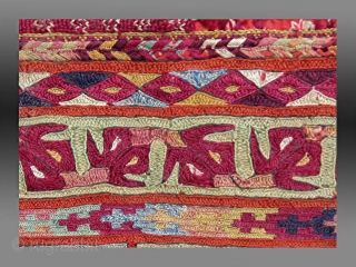 "Ersari Embroidered Cuff, N. Afghanistan, circa 1900, 10"" x 8""