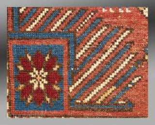 """Shirvan Rug, Caucasus Mtns., late 19th century, approx 2'9"""" x 3'8""""  A cute little rug from the Shirvan area.  The small size and different arrangements of ornaments suggests this may have been  ..."""