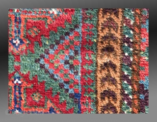 """Baluch Balisht, SE Persia, 19th C., 1'6"""" x 2'5""""  Saturated colors, all derived from natural dyes  Good condition, silky pile with no repair or re-weaves.  Please inquire for further information"""