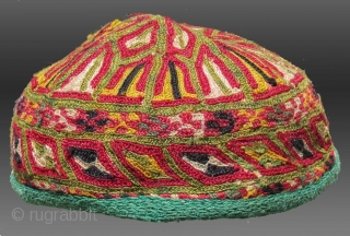 Ersari Turkmen Embroidered Hat, Central Asia, circa 1920