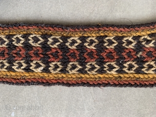 Charming Tibetan Yak trapping with lively natural colours. Very good condition. Tibet ca.1900. approx. 85 x 6 cm