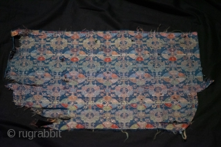 "Ming, silk, fragment, 36x59cm, ""shou"" pattern"