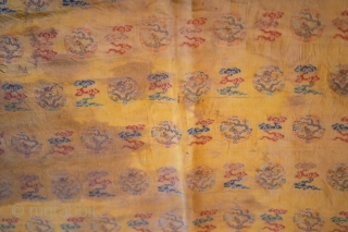 Imperial dragons and clouds, Qing period, silk,150x60 cm