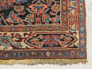 "Unique and lovely antique Bidjar rug, wool on wool foundation, great condition, full pile, size is 4'-7""x3'-7"""