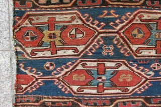 """very old and antique caucasian mafrash panel. Size 2'-11""""x1'-4""""."""