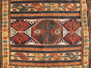 Extremely fine and tight weave shahsavan sumac bag face, awesome antique piece, good price.