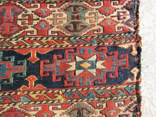 Very old, antique, unique and rare Shasavan Mafrash panel in Memling Gul design, it is not easy to find sumac mafrash at this design, color combination, and age, it is a magnificent  ...