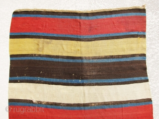 Mid 19th century or even older Shahsavan stripe Kilim, very old and attractive piece, if you are looking for best and old wool and color don't miss this beauty. Price is also  ...