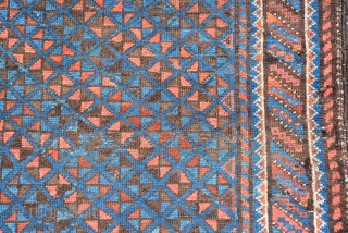 Baluch rug 1900, size is 162 x 92 cm