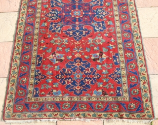 A Tremendous Tuduc copy early 20th century or you can say 100 years old, design of (star ushak), size is 240 x 140 cm