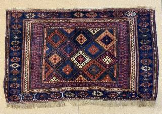 Antique huge Jaff Kurd bag size is 118 x 77 cm