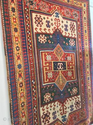 caucasian   kazak facralu  cm 2.15 x 1.50  19th centruy natural colors   full pile  please  for  mor info info@anatoliantappeti.com