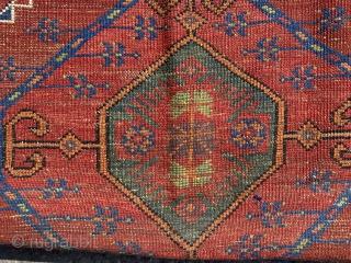 central Anatolian KARAMAN  cm  2,45 x 1,25 19th century natural colors  good. condition  please more info  info@anatoliantappeti.com