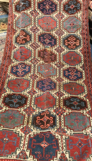 EST ANATOLIAN ANTIQUE RUG CM 2.65 X 1.22  1850 CIRCA