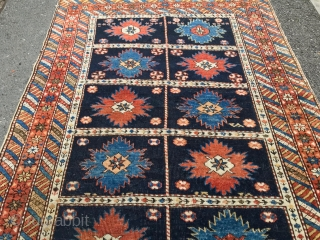antique caucasian sirvan  cm  1.00 x 0,75 19th natural  colors some small old restoration  very  fine quality