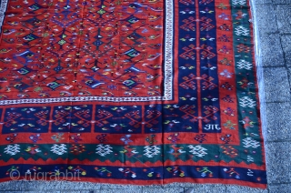 Antique oversized 19th century Sarkoy kilim.