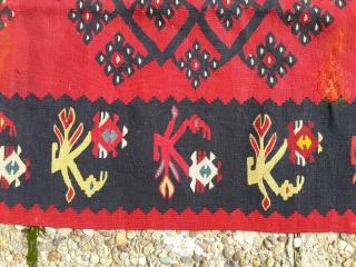 Sharkoy sarkoy kilim, with natural colors.