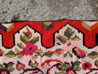 Anatique late 19th century Balkan Voivodina kilim