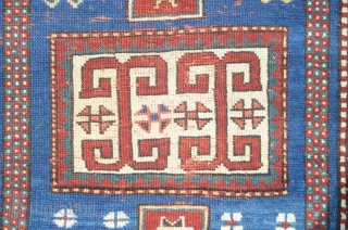 Antique 19th century prayer rug Kazak Karachop