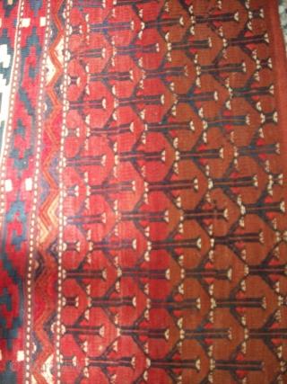 Antique Yomud Turkmen flatwoven chuval